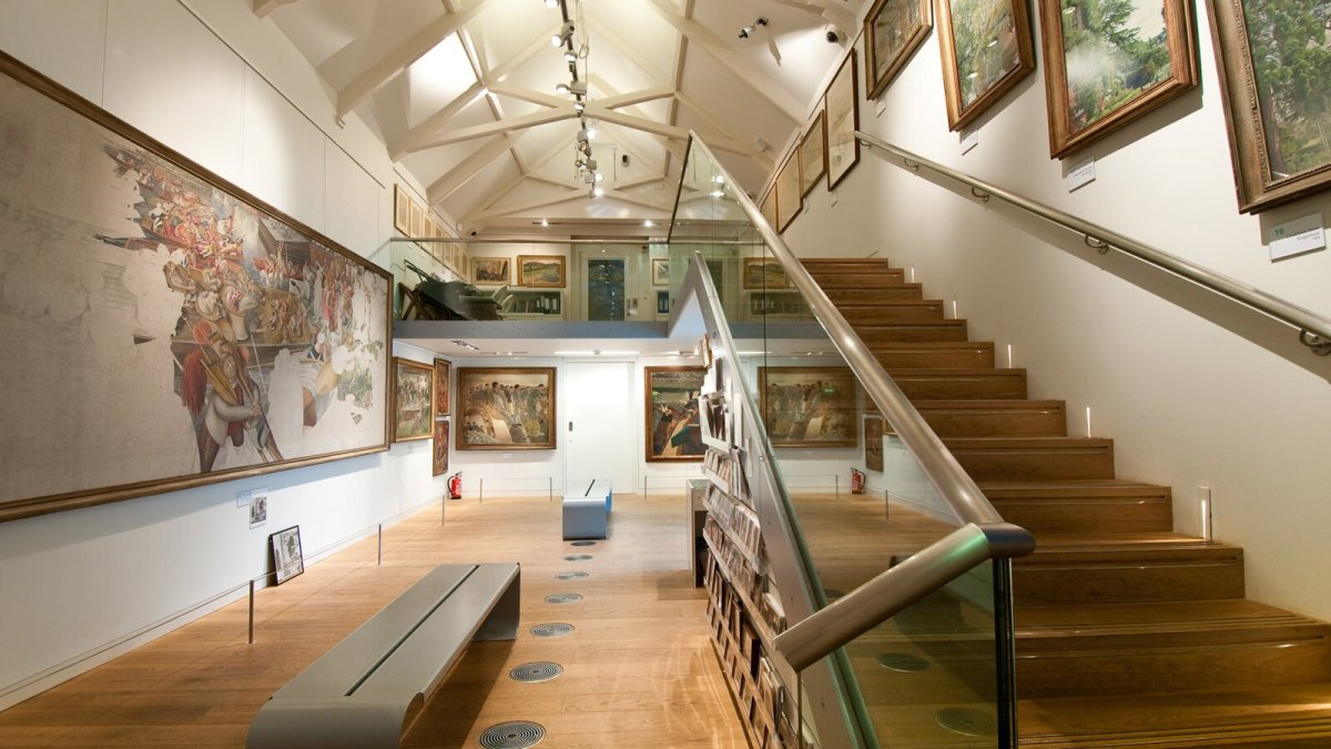 The interior of The Stanley Spencer Gallery.