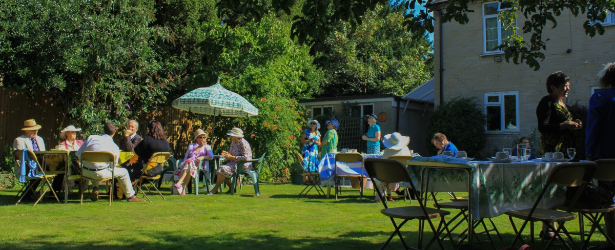 Revd Sally Lynch hosted a garden party on the vicarage lawn.