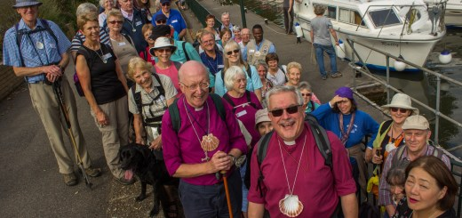 Some of the Christian walkers who'd pilgrimed with Bishops John and Andrew.