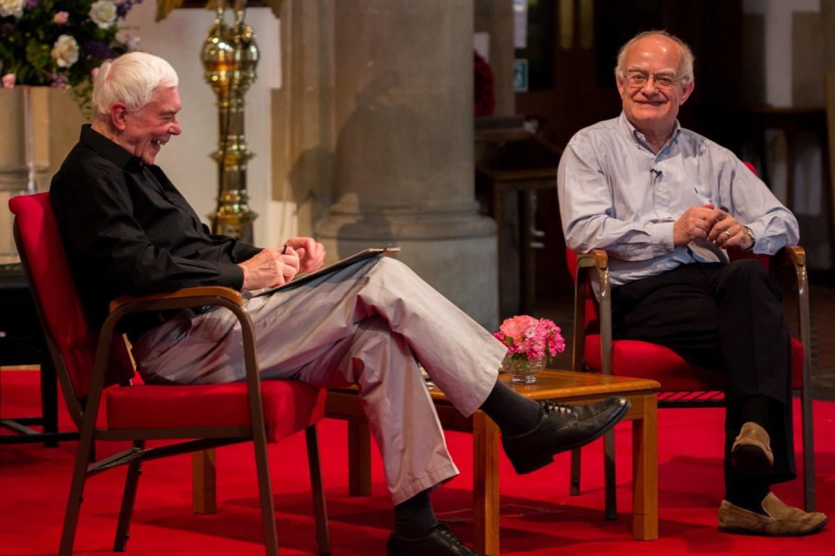 John Cotterill and John Rutter in conversation.