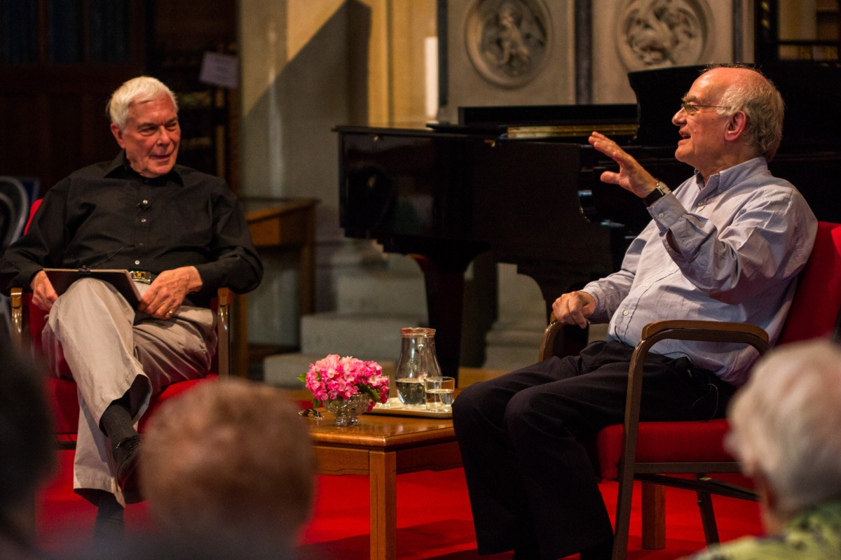 The exclusive, hour-long conversation was chaired by John Cotterill – an old friend of Rutter's. The pair met at the Association of British Choral Directors.