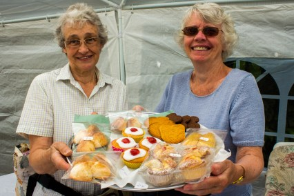 Carole Stevens and Ann Darracott manned the cake stall.