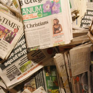 Newspapers (stock photo).