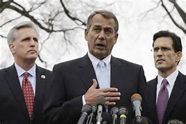 Kevin McCarthy, John Boehner, Eric Cantor. Two down, one to go.