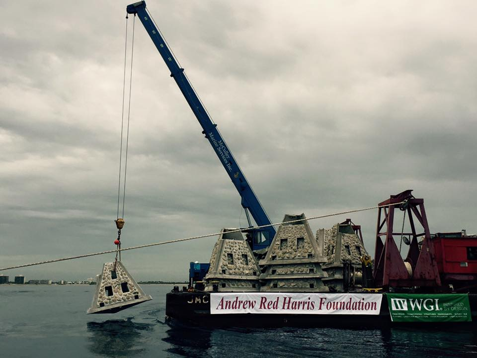 ARHF artificial reef deployment 08-2016