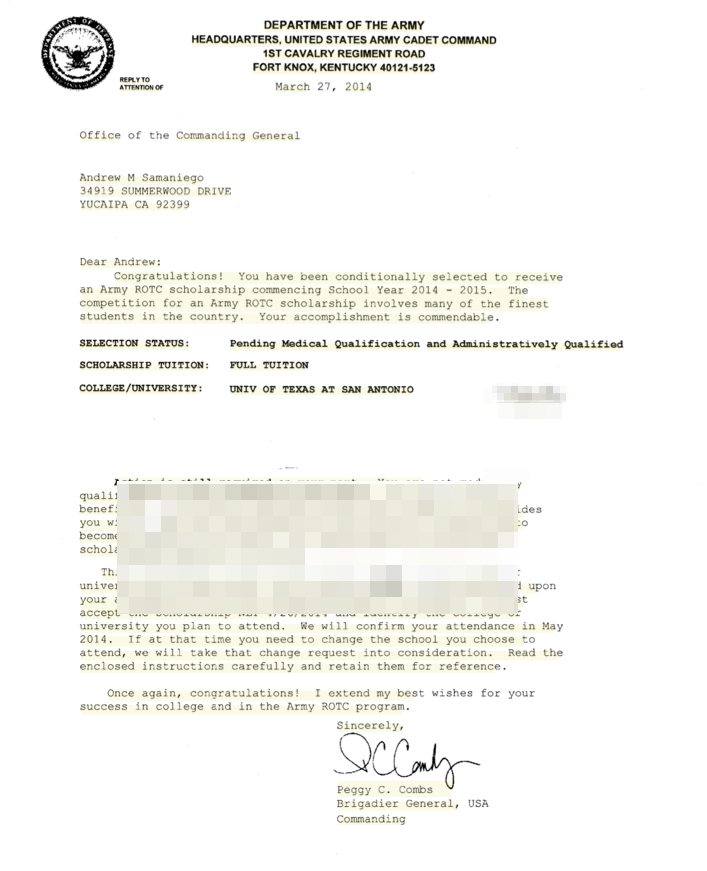 Scholarship Letter Writing Tips Format Sample Template West Point Archives Andrewsamaniego
