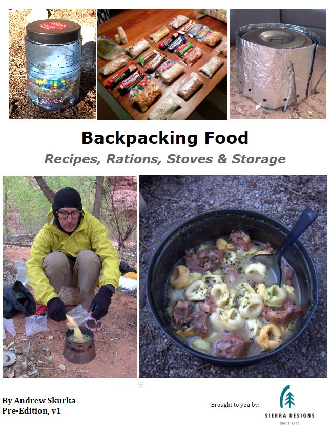 Backpacking Food Recipes, Rations, Stoves  Storage - Download
