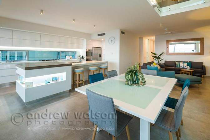 Image of open plan living in residential home