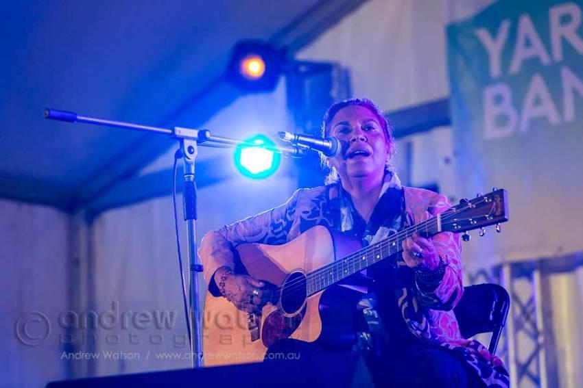 Image of Shellie Morris performing at Yarrabah Band Festival