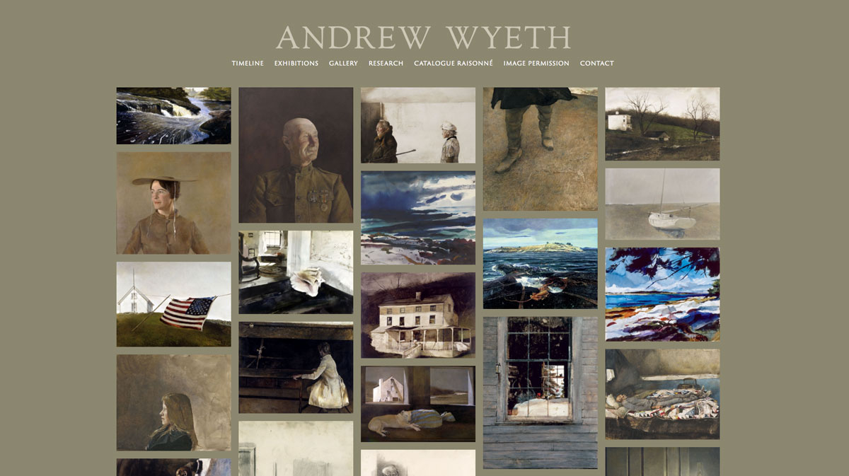 Photo Gallery Of Andrew Wyeth Selected Works By Andrew Wyeth Featured In This Gallery