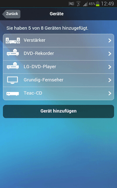 Smart Steuern Logitech Harmony Smart Control Android User