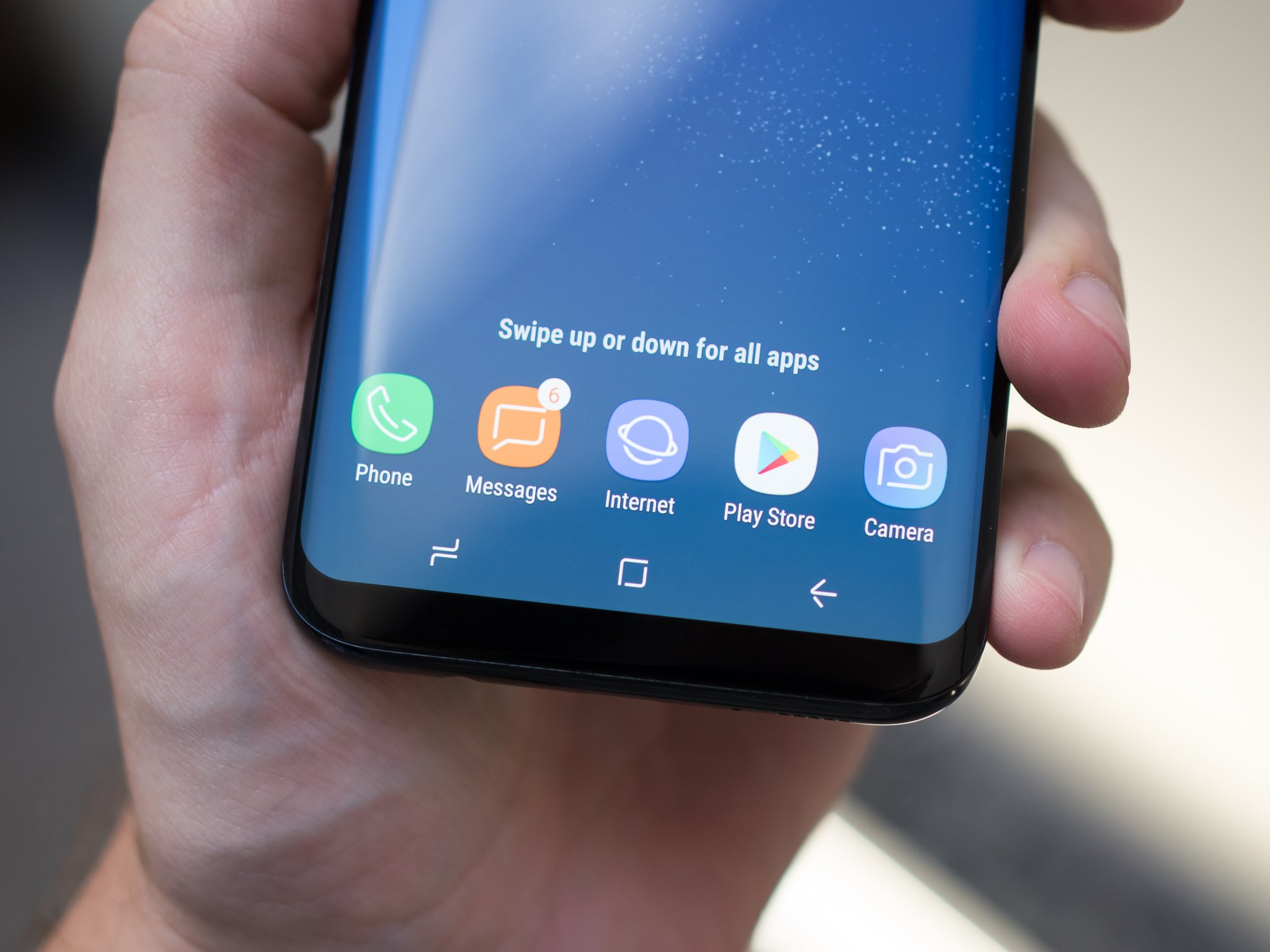 Samsung Screen How To Restore The App Drawer Button On The Galaxy S8 Or Disable