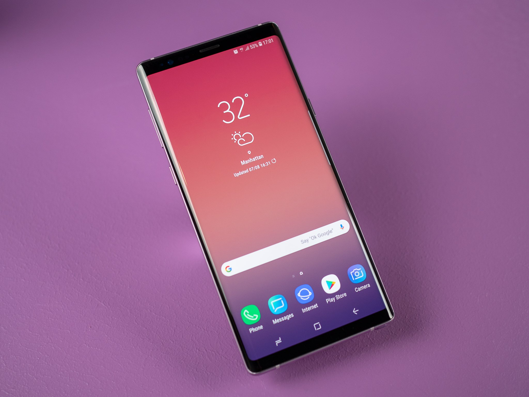 Samsung Screen Galaxy Note 9 S Screen Receives Record Setting Rating From