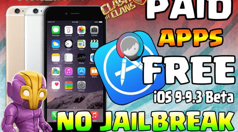 Get PAID Apps/Games FREE (NO JAILBREAK) iPhone, iPad, iPod Touch iOS 9 – 9.3 Beta: