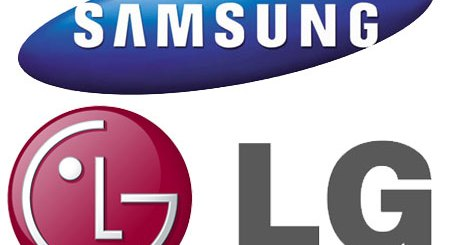 LG and Samsung logos