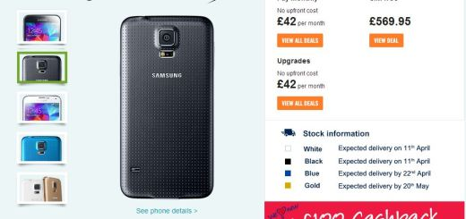 Galaxy S5 Pre-orders at Carphone Warehouse UK