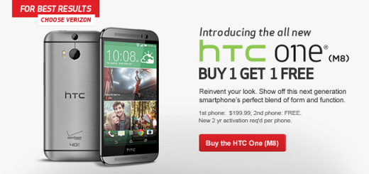 Two-for-one Verizon HTC One M8 Offer