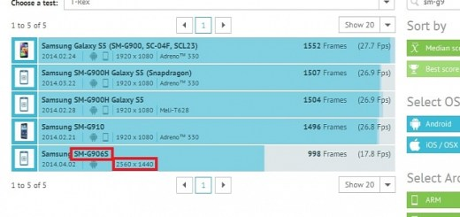 Mysterious Samsung SM-G906S Appears in Benchmark
