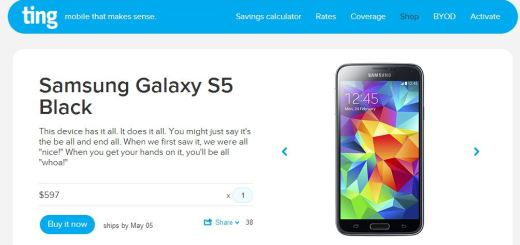 Prepaid Carrier Ting has its Galaxy S5 Priced at $597