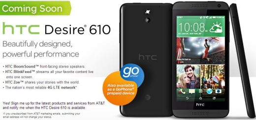 HTC Desire 610 Scheduled for a July 25 AT&T Release