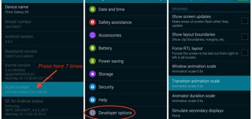 Access Developer Options on Samsung Galaxy S5