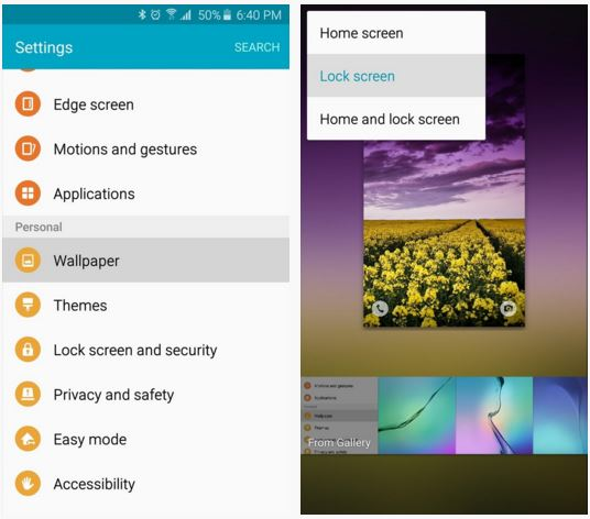 huawei how to set multiple pictures lock screen