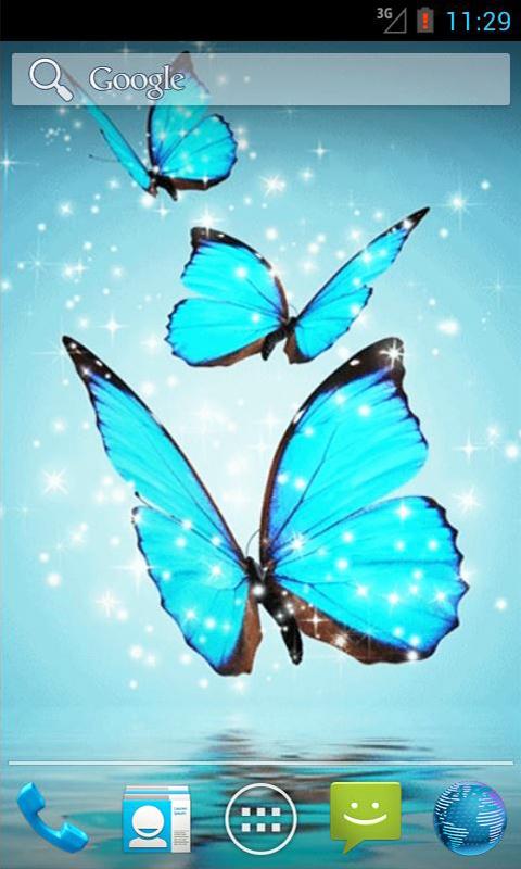 Butterflies 3d Live Wallpaper Apk Cyan Butterfly Live Wallpaper Android App Apk By Andapplique