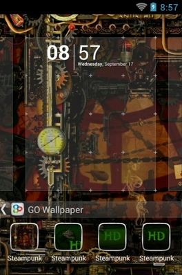 Cute Kitty Cartoon Wallpaper Steampunk Android Theme For Go Launcher Androidlooks Com