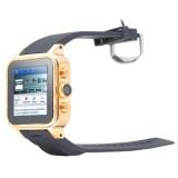 simvalley GW-420: Smartwatch mit allen Smartphone-Funktionen und 23 Karat Gold
