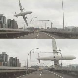 Auto-Dashcam zeichnet Flugzeugabsturz in Taiwan auf