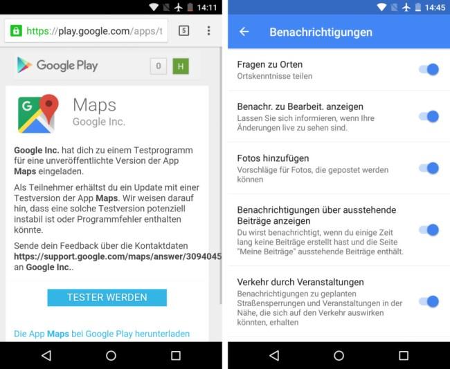 """Wenn du dich als Tester anmeldest, erhältst du im Google Play Store die jeweils neueste Betaversion der Stadtplan-Software """"Google Maps""""."""