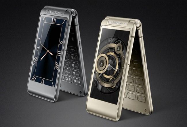 """Das Samsung-Smartphone """"Veyron"""" (""""SM-W2017"""") verfügt über ein aufklappbares Gehäuse. (Im Bild der Vorgänger """"SM-W2016"""".) (Foto: Samsung)"""