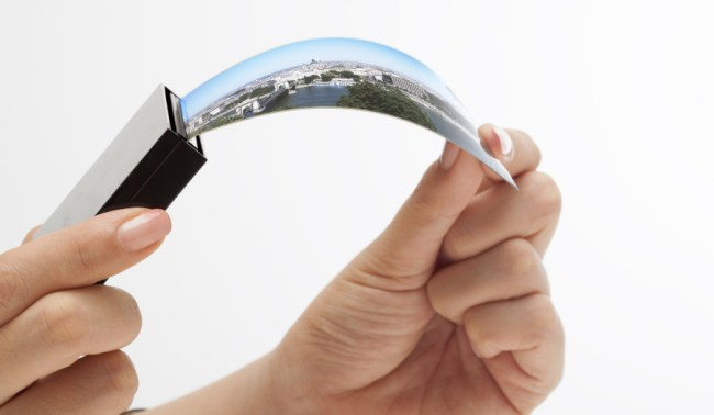 Samsung entwickelt schon seit mindestens 2010 biegsame Bildschirme. Nächstes Jahr sollen zwei Smartphone-Modelle mit derartigen Displays auf den Markt kommen. (Foto: Business Wire)