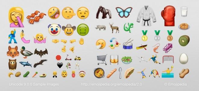 Emojipedia hat von den neuen Emojis Mockups erstellt (Bild: Emojipedia)