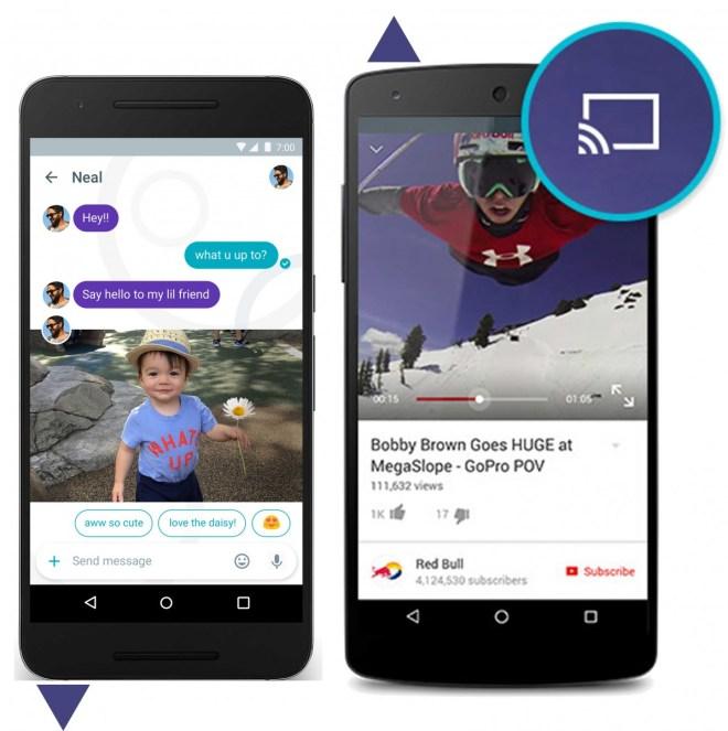 """Chatten mit Unterstützung Der neue Google-Messenger """"Allo"""" erkennt die Inhalte von empfangenen Fotos – und kann Ihnen passende Antworten in Ihrem eigenen Stil vorschlagen."""
