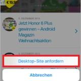 Tipp: Die Desktop-Seite statt der mobilen anzeigen!