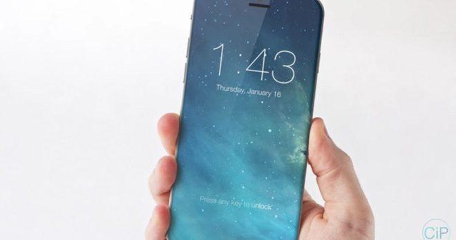 Wie auf diesem Renderbild könnte das vollflächige Display des iPhone X aussehen (Bild: Apple Insider)