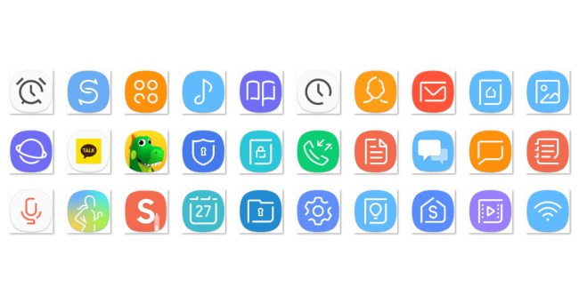 Samsung Galaxy S8 Launcher und App-Symbole 02