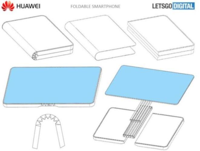 Huaweis Patent für ein faltbares Smartphone (Quelle: Letsgodigital)