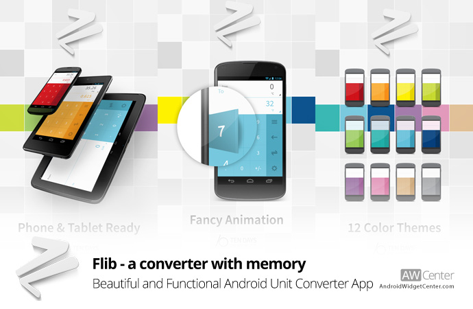 Flib Beautiful, Functional, and Simple Android Unit Converter AppAW