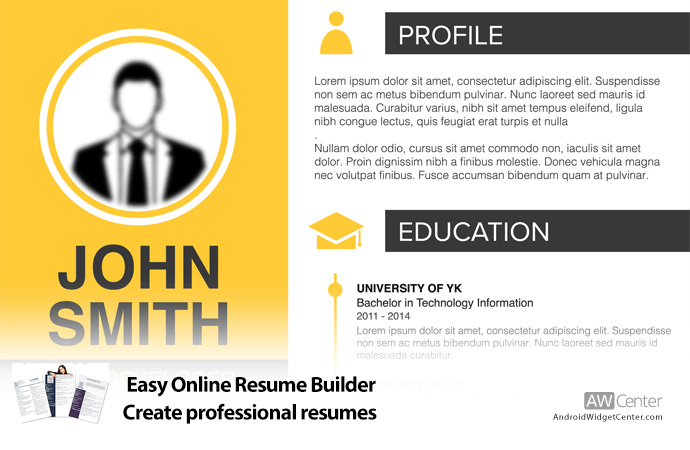Easy Online Resume Builder Create a Professional Resume