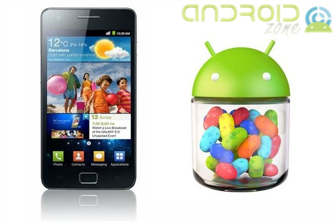 Galaxy S2 Android-OS 4.1.2 Jelly Bean AZ