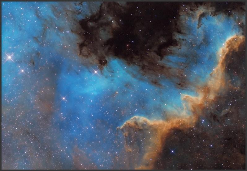NGC 7000-Meksyk, Ha-15x600s bin1, OIII,SII-6x600s bin2