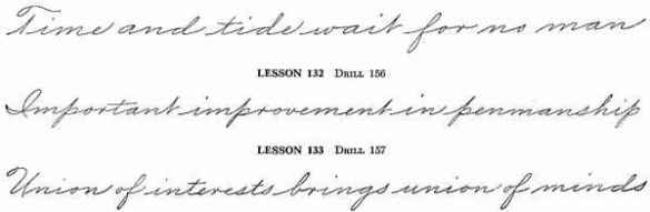 Some Samples of Palmer Handwriting