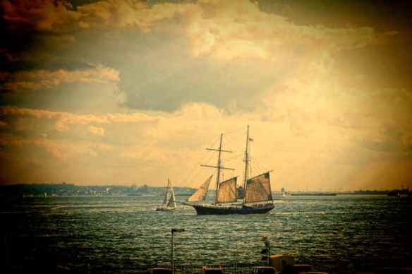 Sailing Ship New York Harbor - Copyright 2013 by Andrew Brandt