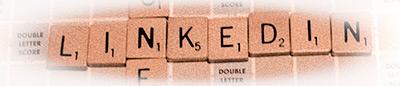 LinkedIn in Scrabble Tiles