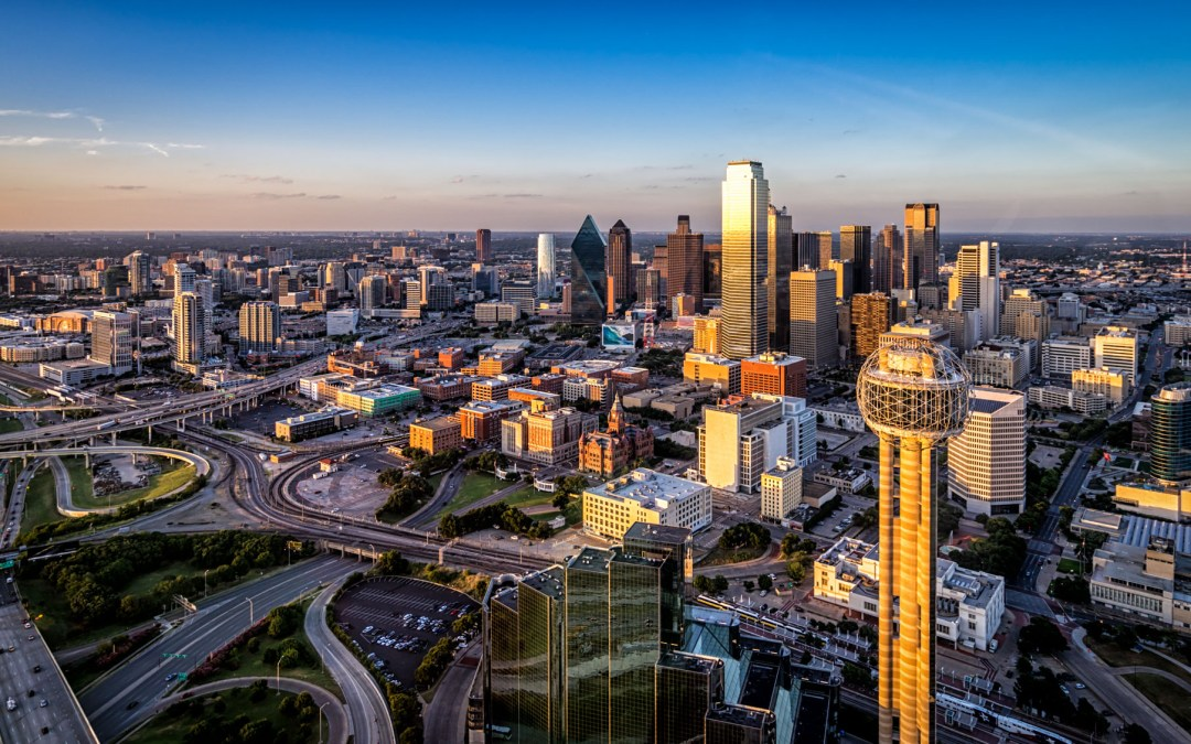 Picture of the Week (and editing video): Dallas from a helicopter