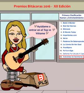 clasificacion premios bitacoras