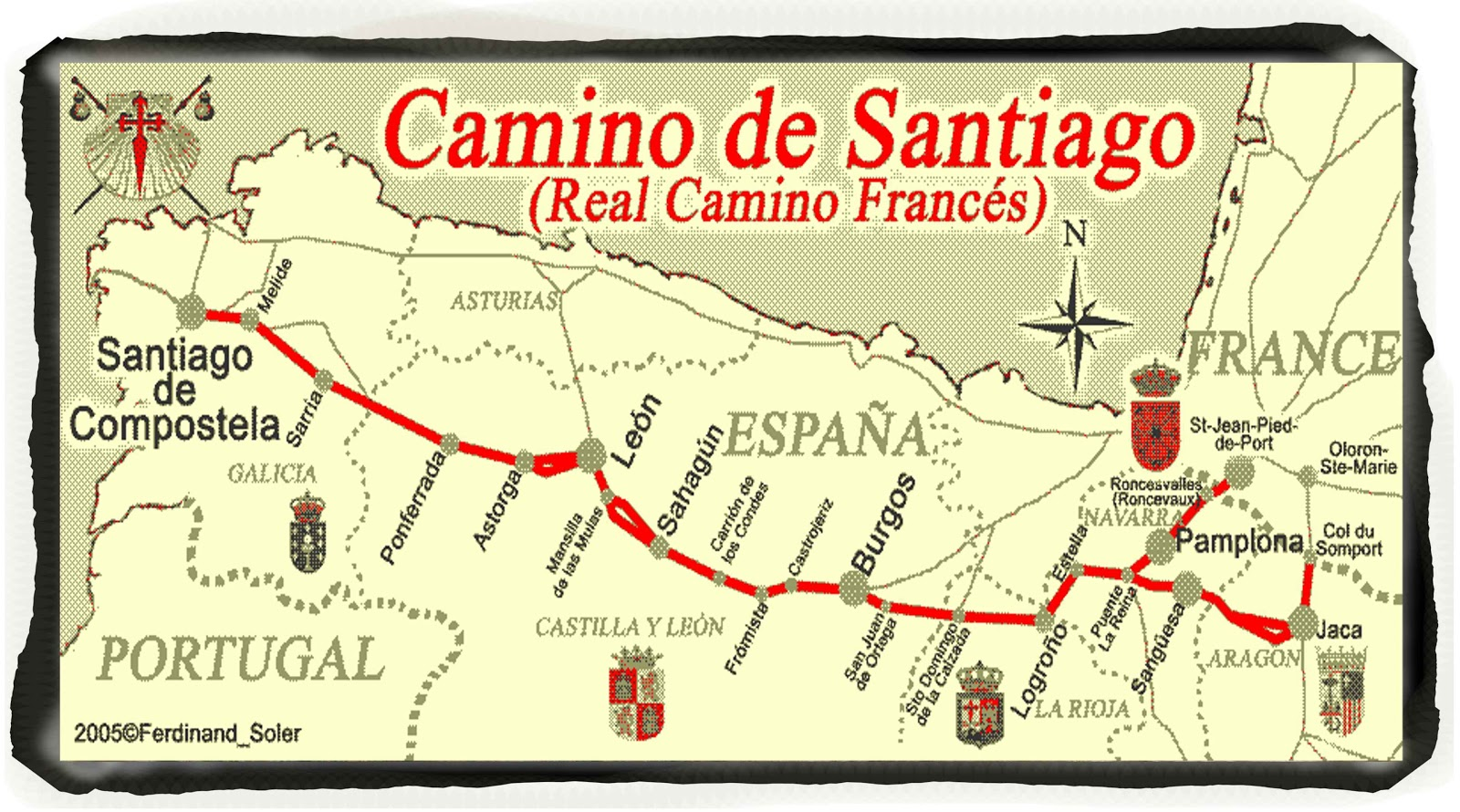 Camino Santiago Packing List Camino De Santiago Packing List Inside Out Travel The World