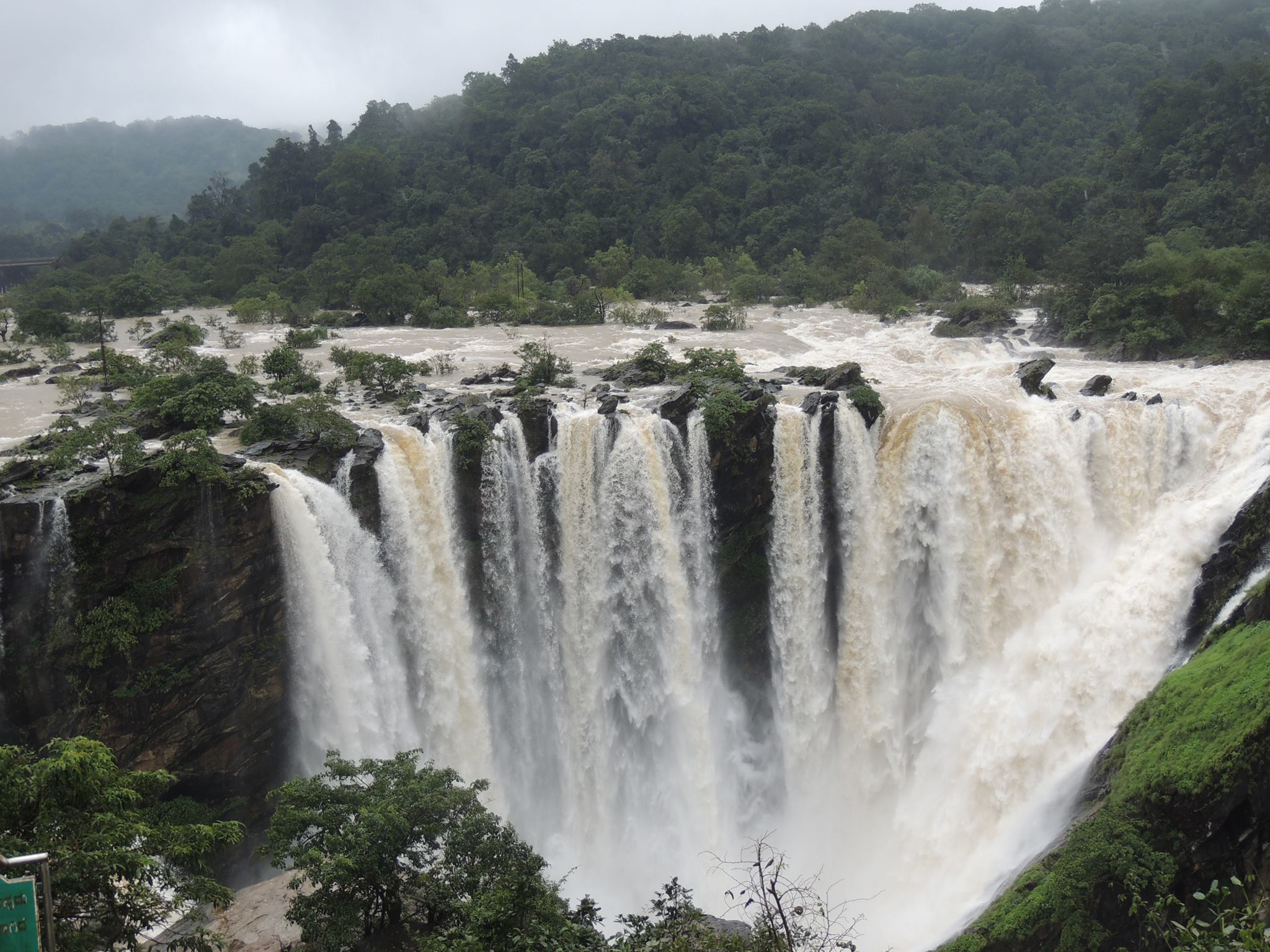 Jog Falls Hd Wallpaper Jog Falls In Full Spate During August 2013 An Ode To